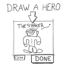 create a hero,draw a hero,champion,super héro,le shaker de cyril,rêver,dessiner